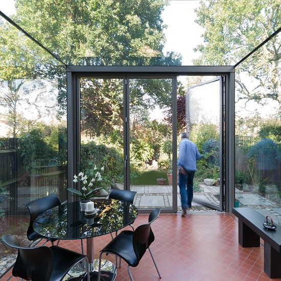 Trent glass frameless glass conservatories manufacturer for Modern garden room extensions