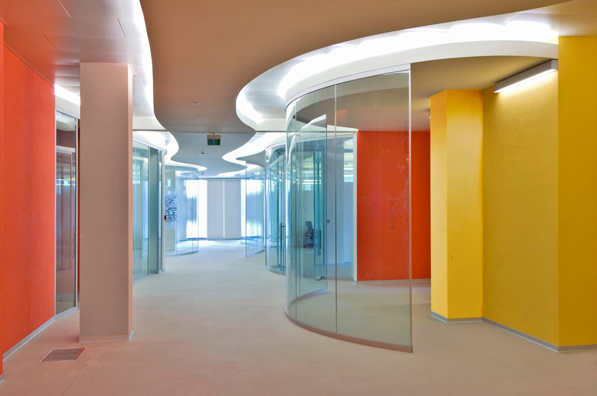 Trent glass curtain walling switchable glass glass for Curved glass wall